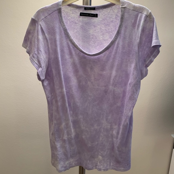 Abercrombie & Fitch Tops - A&F PURPLE TIE DIE KNIT TOP SIZE S